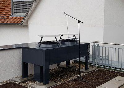 Wärmepumpe in einem Wohn- und Geschäftshaus in Echterdingen
